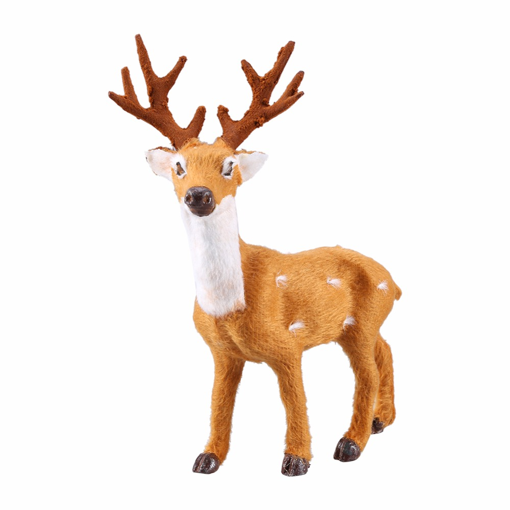 1 x mini simulation reindeer christmas for Christmas reindeer decorations