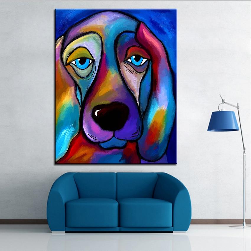 Duży rozmiar Druk Obraz olejny Malarstwo ścienne królewski pies - Wystrój domu - Zdjęcie 1