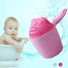 Cartoon Baby Bath Caps Baby Shampoo Cup Children Bathe Bathing Bailer Baby Shower Spoons Child Washing Hair Cup Kids bath toy D3