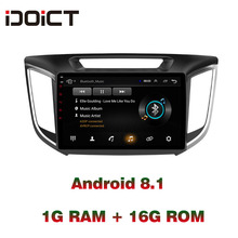 купить IDOICT Android 8.1 Car DVD Player GPS Navigation Multimedia For Hyundai Creta IX25 Radio 2014-2017 2018 car stereo по цене 10256.1 рублей