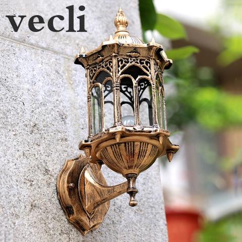 europa lampada de parede ao ar livre patio villa porta de entrada residencial sconce luz