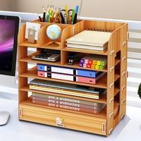 Multi Mobile phone Wood Office desk storage box management desktop meeting cell phone rack Mobile phone holder