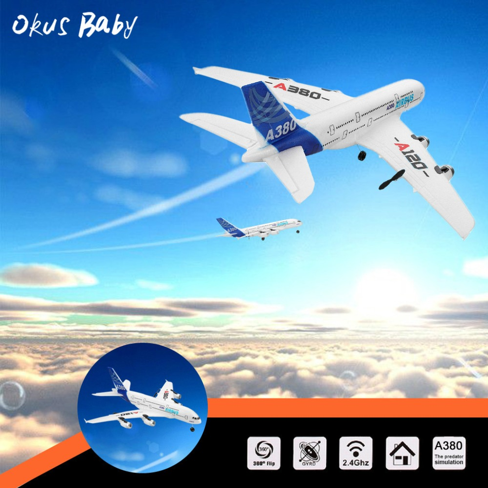 2019 Brand New RC Airplane 2.4GHz 510mm Wingspan 3CH RC Plane Gliders Coreless motor Fixed Wing RTF Plane Toys Kids Gifts image