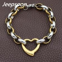 Wholesale Fashion Stainless Steel Jewelry Heart Bracelet Chain High Quality Jeepsoon BGEGAMBA(China)