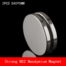 2PCS round D40x5mm N45 N52 Super Powerful neodymium magnets n52 diameter 40*5mm