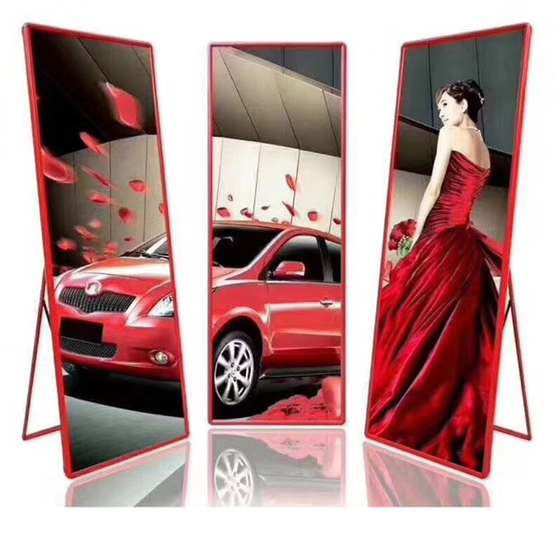 Poster Standing Thickness Lightweight Indoor LED Display Mirror P3 High Refresh High Contrast Display For Advertising