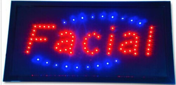2017 hot sale customed 10x19 Inch Semi-outdoor Ultra Bright running facial care store led sign