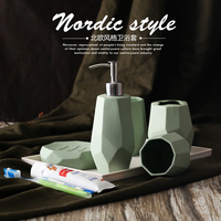 Minimalist Ceramic Toothbrush Holder Soap Dish Bathroom Accessories Set Kit Wedding Home Decor Handicraft Porcelain Figurine