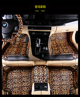 leopard full surrounded car floor mats for TeslaModel S CayennebosterMACAN no odor waterproof non slip carpets 5 seats cars