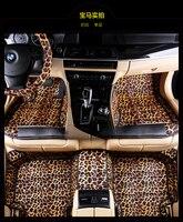 Leopard Full Surrounded Car Floor Mats For Tesla Model S CayennebosterMACAN Tasteless Waterproof Non Slip Carpets