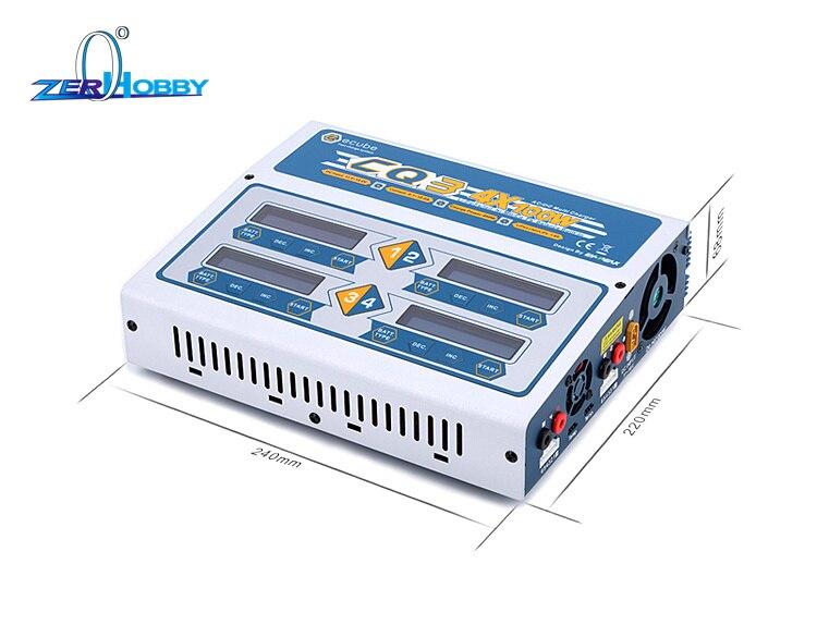 EV-Peak 100 W x 4 CQ3 RC Balance Caricabatterie Lipo Nimh Nicd Batteria al litio Charger Scaricatore con Schermo A CRISTALLI LIQUIDI Digital