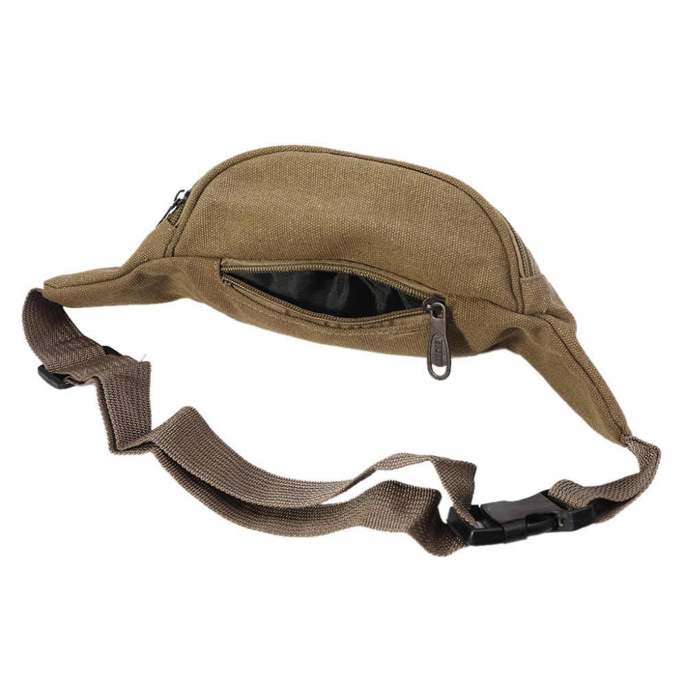 Мужская повседневная прочная поясная сумка холщовая новая Хип бум военная сумка три кармана на молнии