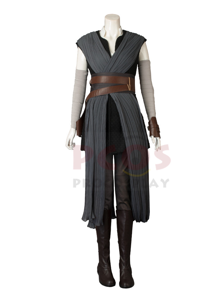 En Stock, Star Wars: The Last Jedi Rey Disfraz / Calzado B Versión - Disfraces