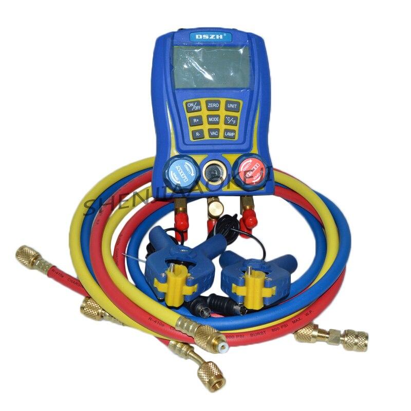 WK-6889 tabela flúor ar condicionado termômetro digital eletrônico/eletrônico medidor de pressão do refrigerante/grupo de mesa líquido