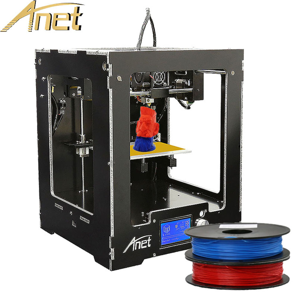 цена на High quality Anet A8/A6/A3S/A2/E10 3d printer cheap high precision reprap prusa i3 diy 3d printer kit with free filament