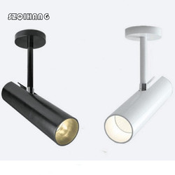 Wysokość światła 12 W 20 W biały powłoki/czarna powłoka COB LED śledzenie światła AC85-265V oświetlenie sufitowe LED