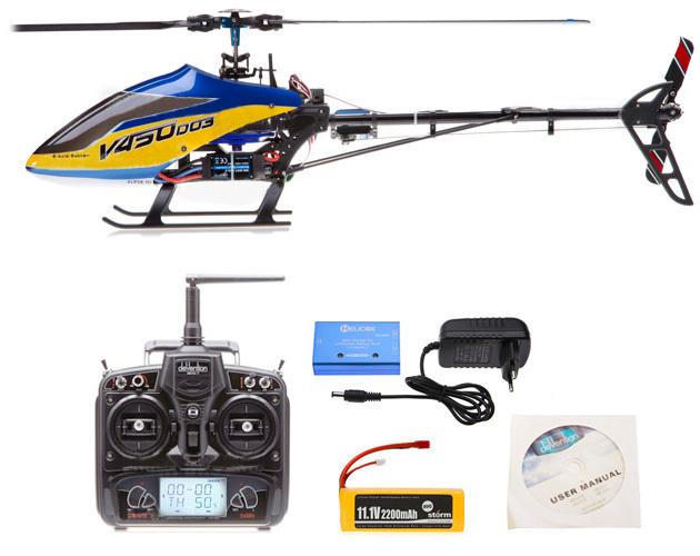 Walkera V450D03 Generación II 6-Axis Rc helicoptero rc Sin Escobillas Helicóptero Devo 7 RTF con transmisor