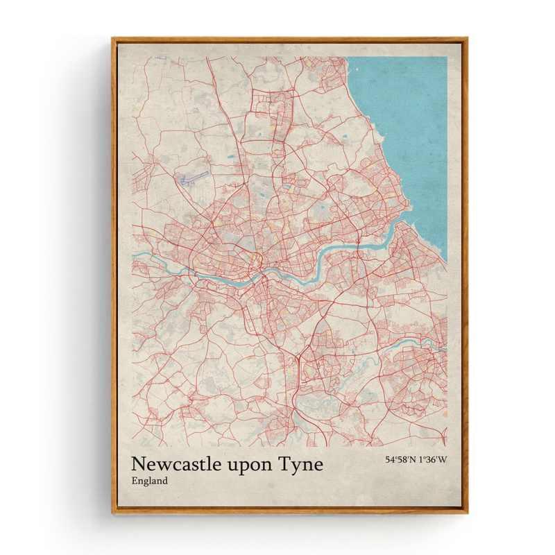 Ньюкасл англия карта города