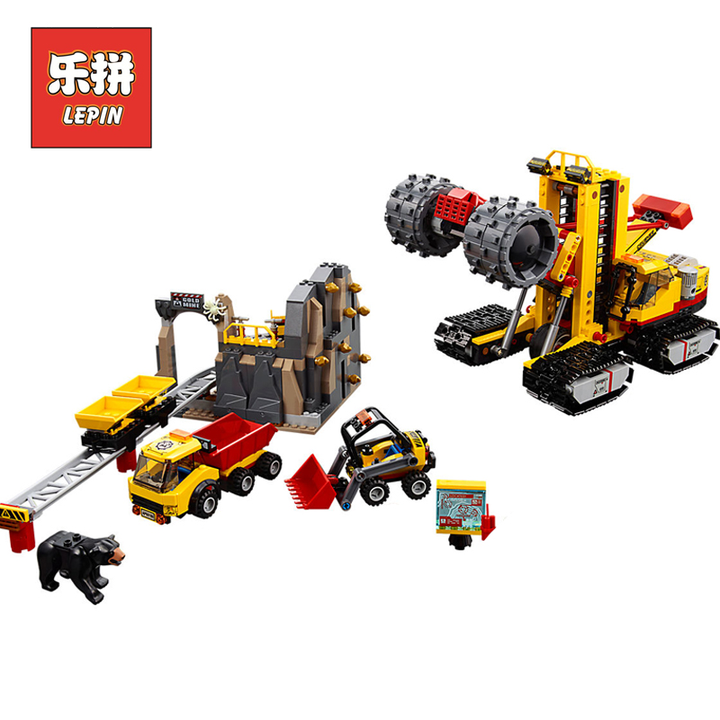 Lepin 02102 City Series the Mining Experts Site Set 60188 Building Blocks Bricks Model Toys Children Educational Gifts New Toy a toy a dream lepin 02043 718pcs building blocks bricks new genuine city series airport terminal toys for children gifts