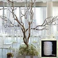 99 FT Diamant Guirlande Acrylique Cristal Perle Rideau De Mariage DIY Party Decor Accueil Salon Chambre Décoration