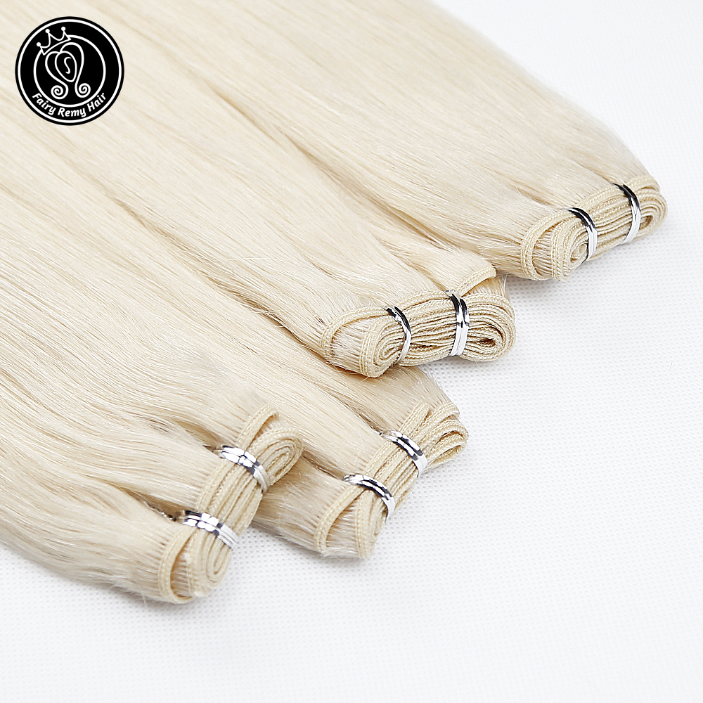 Image 5 - Fairy Remy Hair 22 inch Double Drawn Natural Remy Human Hair Weft Highlight Blonde Color Straight Bundles Hair Extensions 100gHair Weft   -