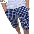 HCXY 2016 новый трикотажные упругой повседневная цветочные шорты мужчины летом пляж красоты выращивания летом пятая мужчин шорты