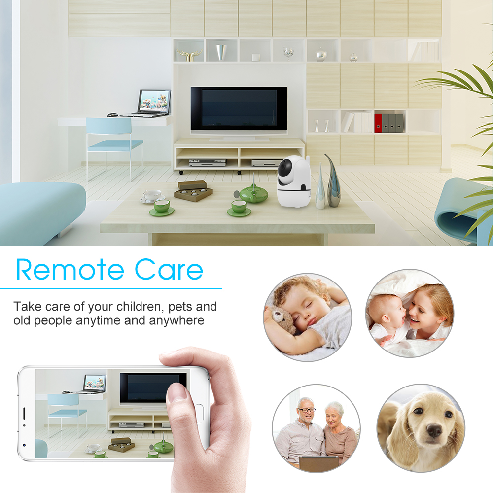 Image 4 - 1080P HD WiFi Camera Wireless IP Camera Baby Monitor with Motion Detection Tracking Voice Alarm 2 way Audio Night Vision-in Baby Monitors from Security & Protection