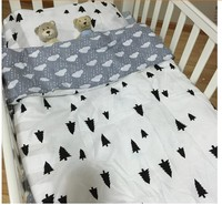 Hot Ins Crib Bed 100 Cotton 3pcs Baby Bedding Set Include Pillow Case Bed Sheet Duvet