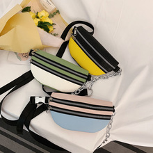 Women Waist Bags PU Leather Fanny Pack Chain Messenger Crossbody Cell Phone Pocket Chest Bag