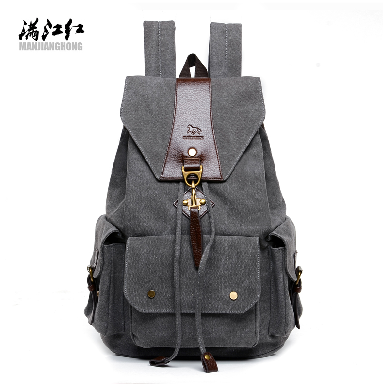 ФОТО 2016 New Casual Men Backpack England Style Vintage Men's Backpacks Korean High Quality Washed Canvas Backpack School Bags