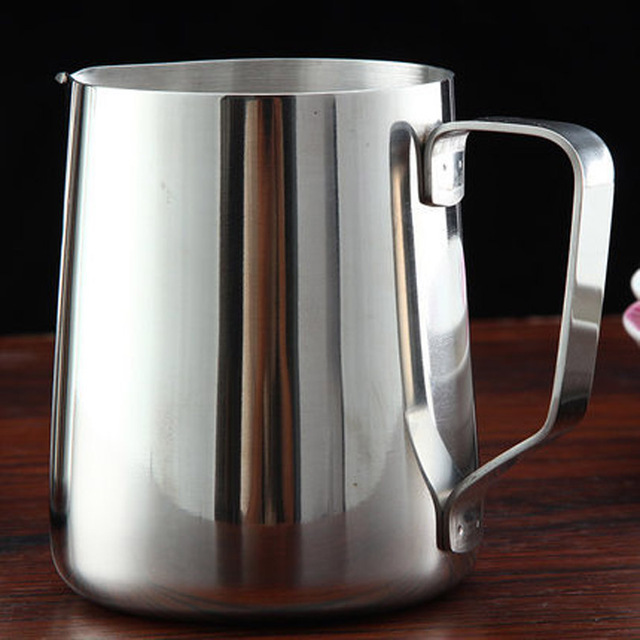Stainless Steel Milk Steaming Pitcher 4