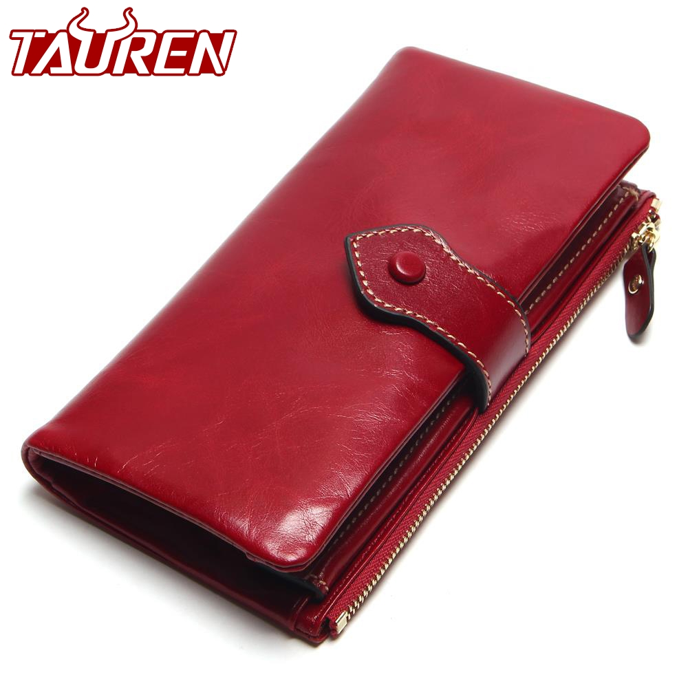 Vintage Leather Women Wallet European And American Style Genuine Leather Wallet Brand Long Lady Purse Cow Leather Female Wallets new wallet fashion genuine leather lady purse woman long style cow leather clip new women s wallet