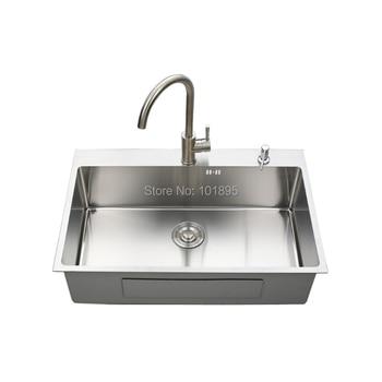 Front Apron Sink | SUS304 Steel Square Single Bowl 780*500*220MM Kitchen Sink X26016