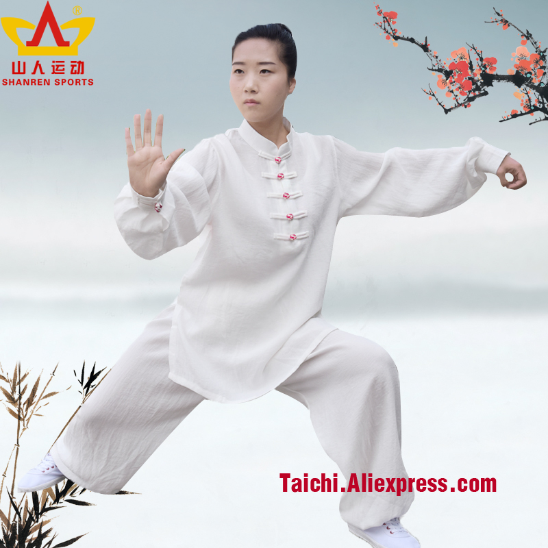 цена на women tai chi suits female taiji clothing cotton and flax Kungfu Uniforme long sleeve Wushu Clothing