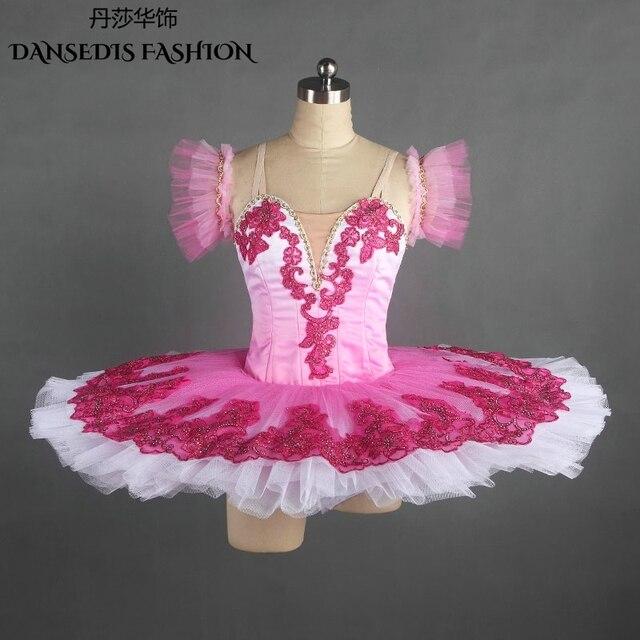 1321de591 New Rose red Classical Pancake Ballet Tutu for Women/Child,Ballerina Sugar  Plum Fairy Stage Performance/Competition Dance Dress