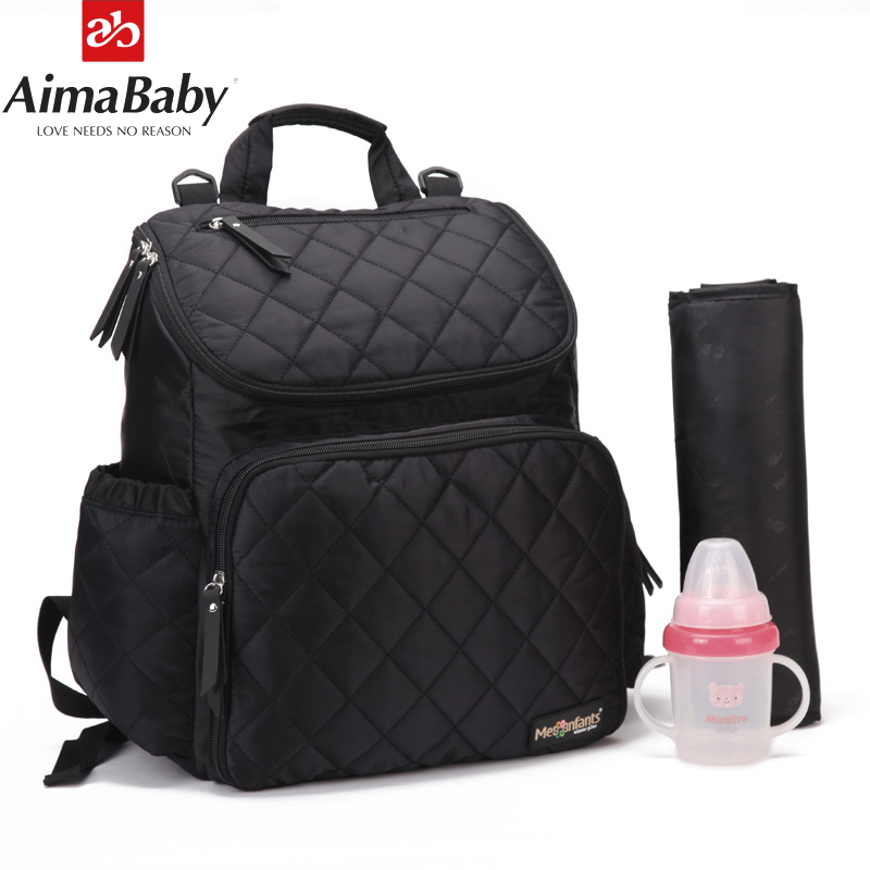 Baby Nappy Diaper Bag Backpack For Mom Mother Maternity Backpack Changing Pad+Stroller Straps