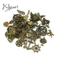 KJjewel Mixed Antique Bronze Plated Angel Charm Pendant fit Making Bracelets Jewelry Findings Accessories Craft DIY 50styles