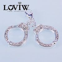 Handcuffs Charm Pendant Silver For Ladies Fashion Gift Women Style Charm Party DIY Jewelry Fit European