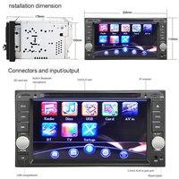 7 ''Dubbele Din Video Speler voor Toyota Auto DVD Stereo Radio Video Speler met Digitale Touchscreen Speler voor Toyota cars