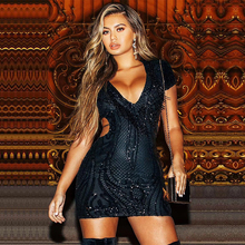 Sequin Dress Women Black
