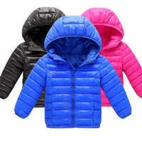 Новая хлопковая зимняя модная спортивная куртка и верхняя одежда для мальчиков и девочек от 3 до 11 лет Детская Хлопковая стеганая куртка зим...