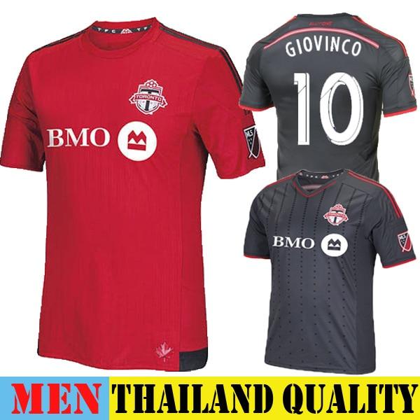 1e9a3b085 New Toronto FC Jersey 2015 Home Red ALTIDORE GIOVINCO Toronto Soccer Jersey  15 16 MLS Away Black 2016 Training Uniform Chandal