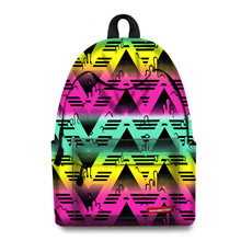 Vintage Canvas Women Backpack School Bags Schoolbag For Teenagers Girls Floral Printing Travel Laptop Bagpack Mochila