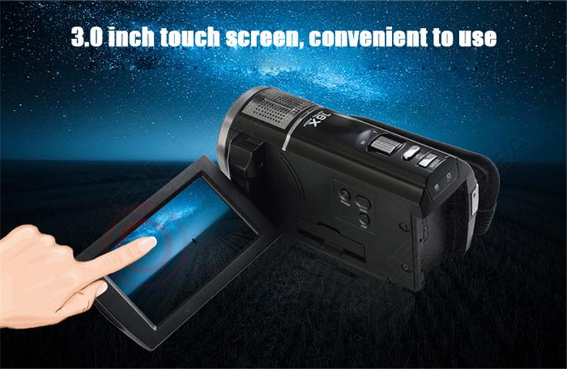 """ORDRO HDV-F5 1080P Digital Video Camera Max 24MP 16X Anti-shake 3.0"""" Touch Screen LCD Camcorder DV With Remote Controller 6"""