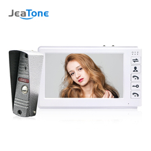 JeaTone 7inch Video Door Phone Video Intercom Doorbell 1000TVL IP65 Rainproof OSD Menu Security Home Access System Cheap Price yobangsecurity home security video door phone system 7inch video doorbell door intercom rfid access control 1 camera 5 monitor