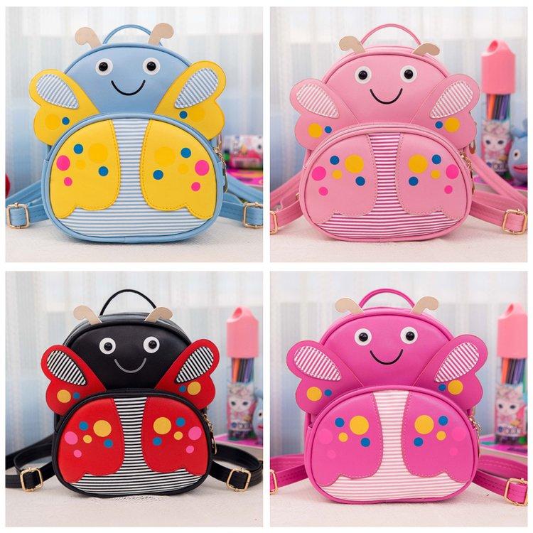 Mini Children PU leather Butterfly Backpack Kindergarten School Book Bag Bee Kawaii Pink Small Schoolbag For Toddler Kids Girls (47)