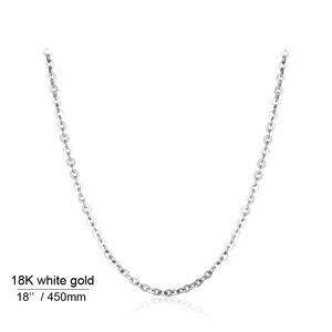 Image 3 - אמיתי 18K לבן צהוב זהב שרשרת שרשרת תליון 18 סנטימטרים au750 תכשיטי שרשרת נשים בסדר מתנה