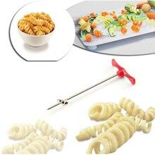 Кухонные аксессуары с ручным роликом спиральный слайсер редис картофель овощи спиральные режущие инструменты