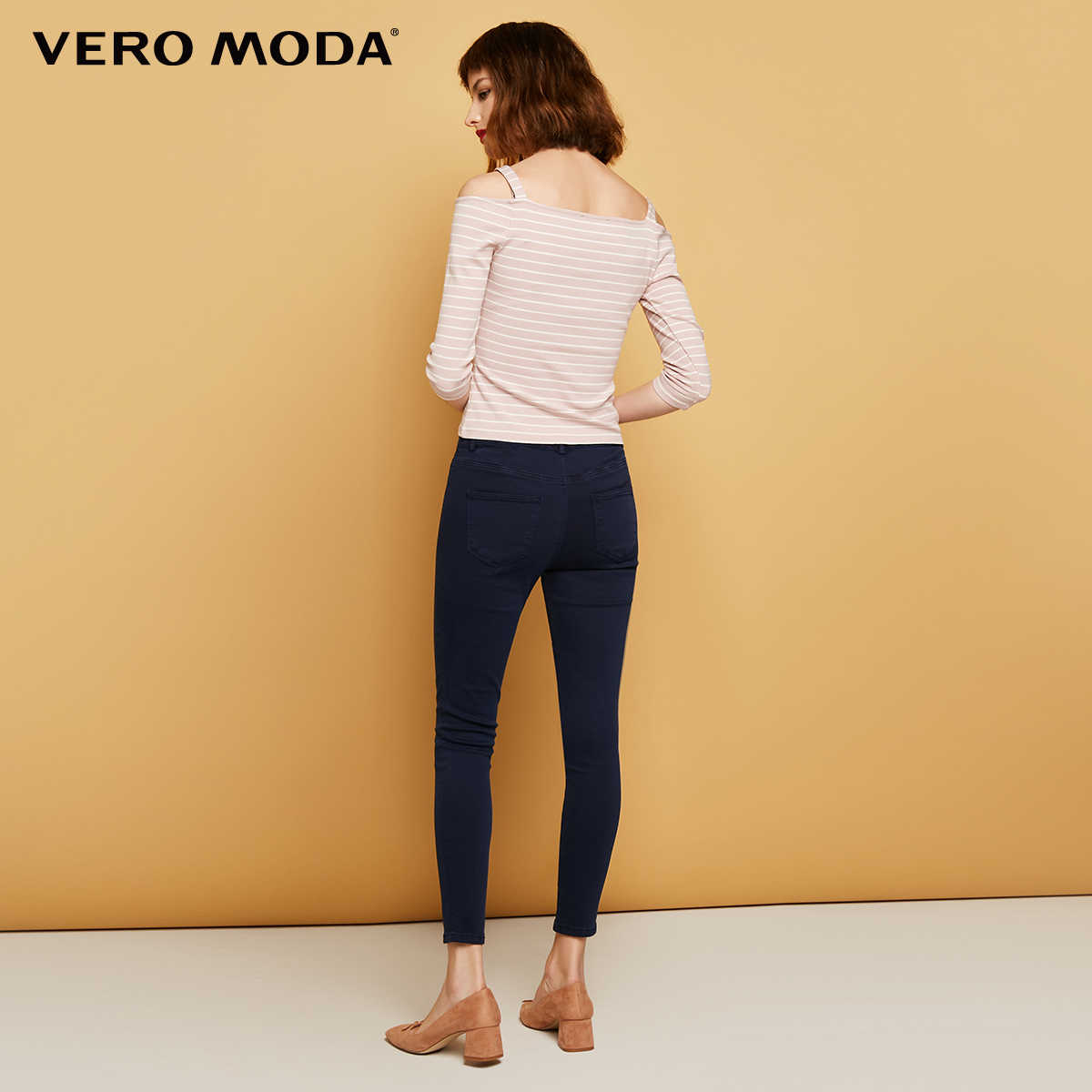 2d306f85ea209 Vero Moda Slim wrap stretch denim pants Jeans Woman | 316449501