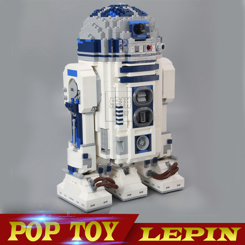 Lepin 05043 Genuine Star Series The R2 Robot Set D2 Out of print Building Blocks Bricks Toys 10225 wars new lepin 21009 632pcs genuine creative series the out of print 1 17 racing car set building blocks bricks toys